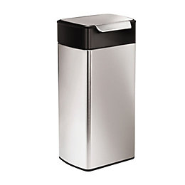 simplehuman Brushed Stainless Steel Rectangular Touch Bar Bin,