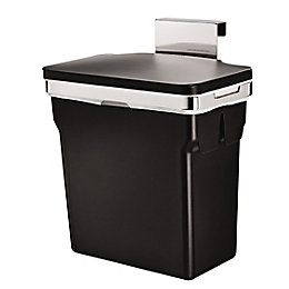 simplehuman Black Plastic Built In Rectangular Bin