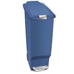 simplehuman Slim Matt Blue Plastic Rectangular Pedal Bin