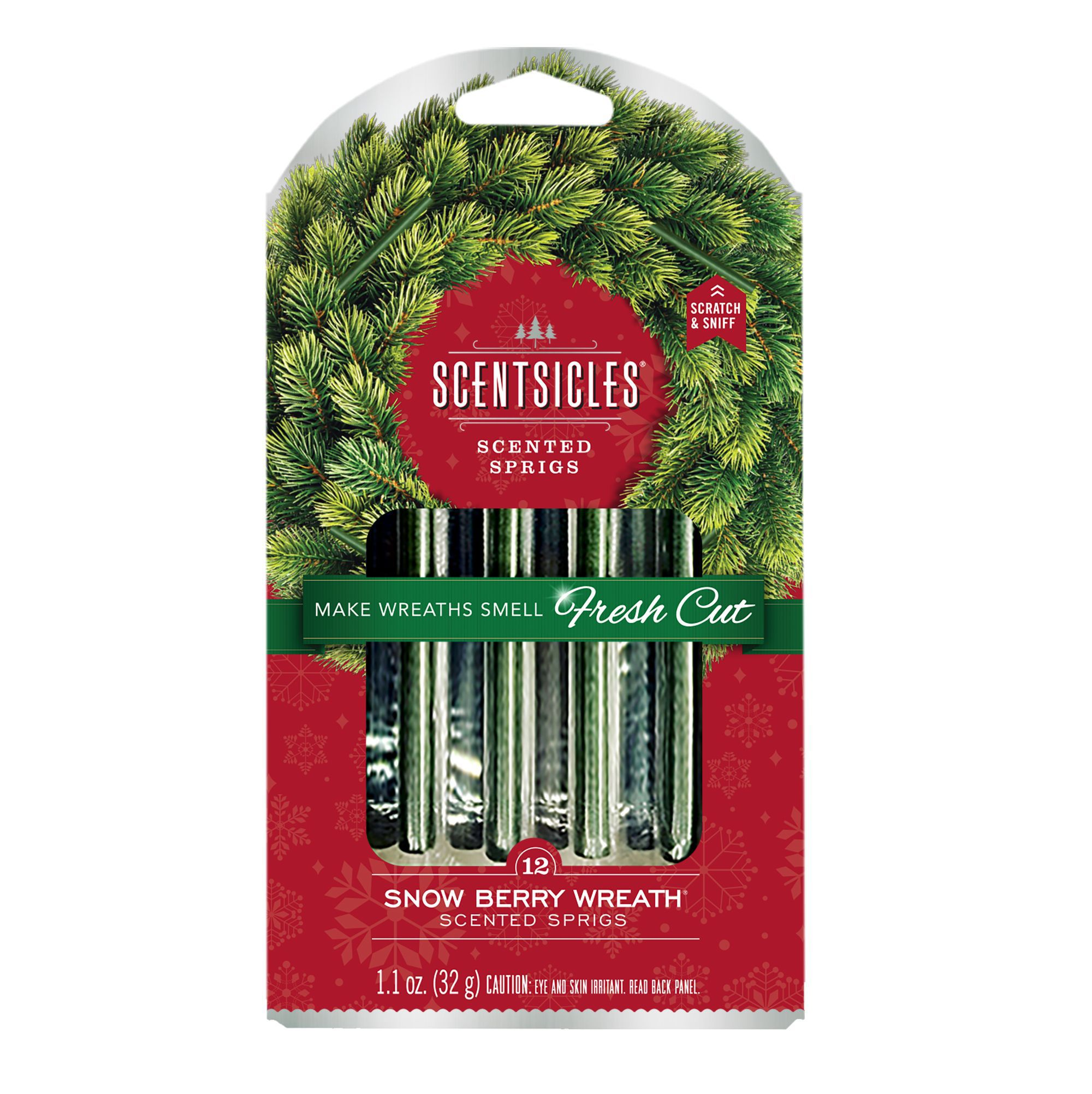 Snow Berry Scentsicles Wreath Sprigs Pack Of 12