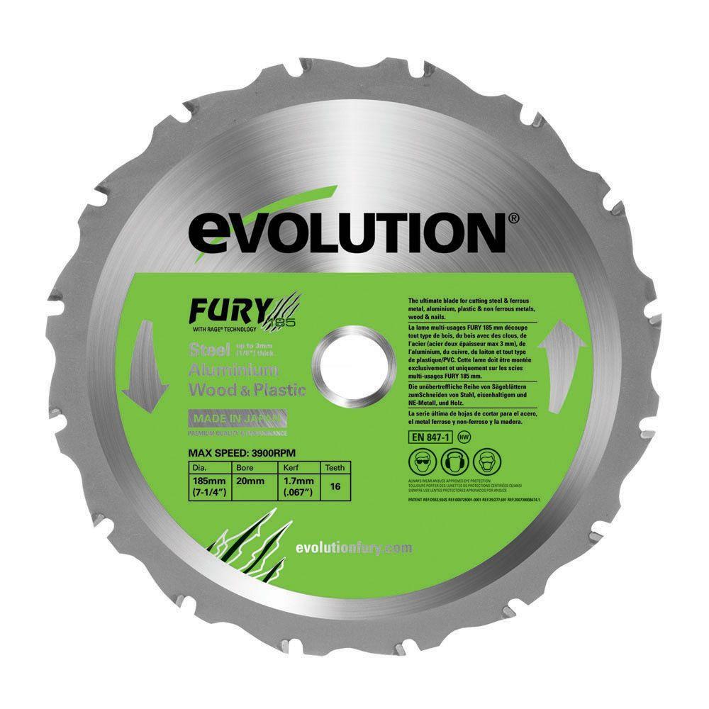 Evolution Fury 16t Circular Saw Blade (dia)185mm