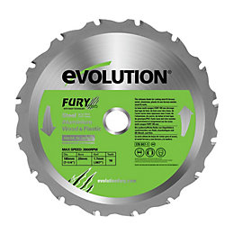 Evolution Fury 16T Circular Saw Blade (Dia)185mm