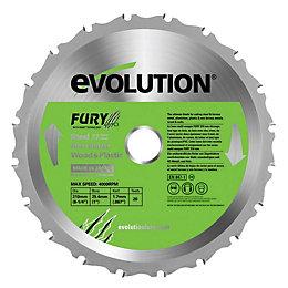 Evolution Fury 20T Mitre Saw Blade (Dia)210mm