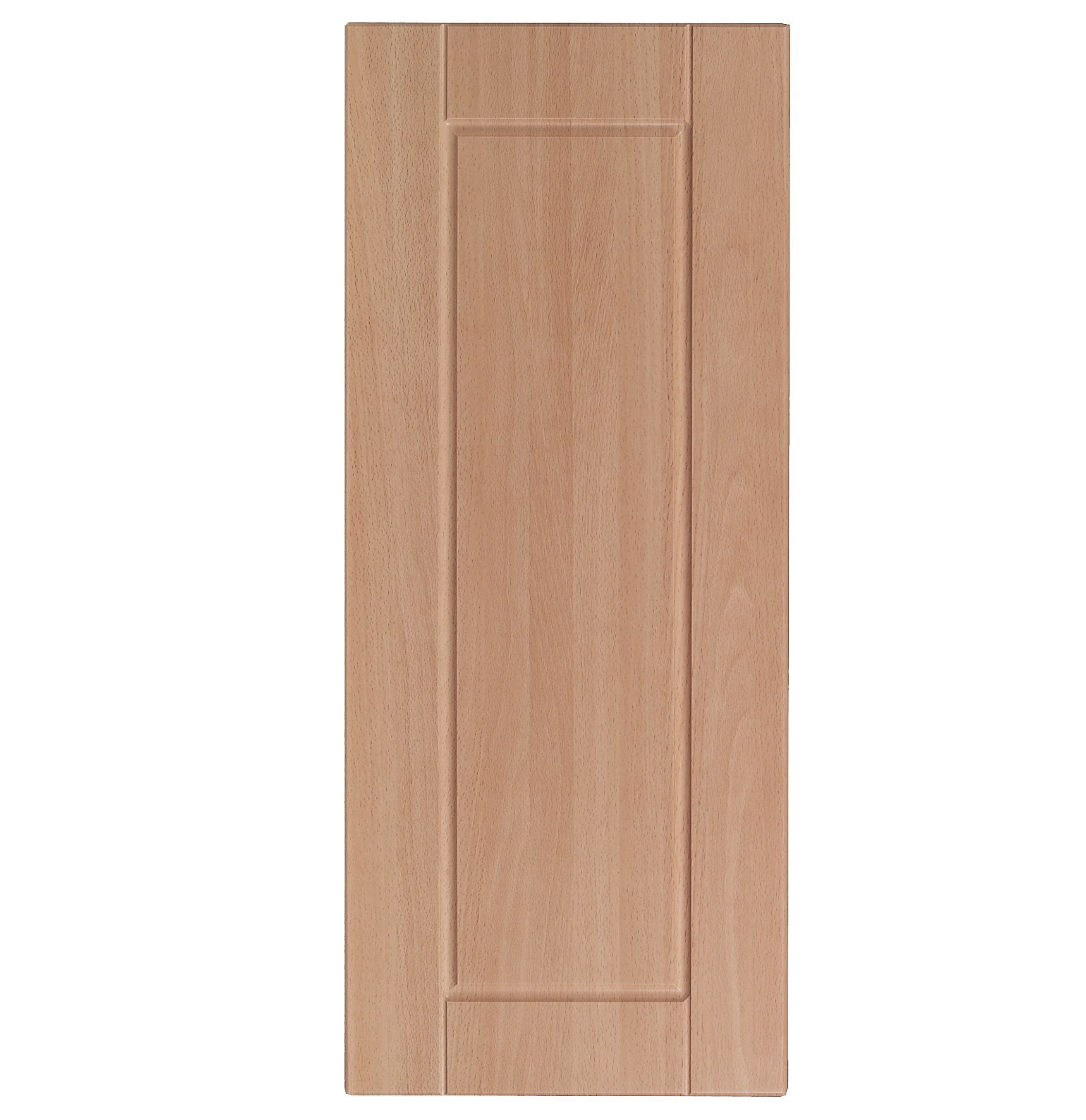 It kitchens walnut style modern corner wall door w 625mm for Beech effect kitchen base units