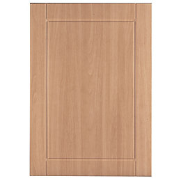 IT Kitchens Chilton Beech Effect Standard Door (W)500mm