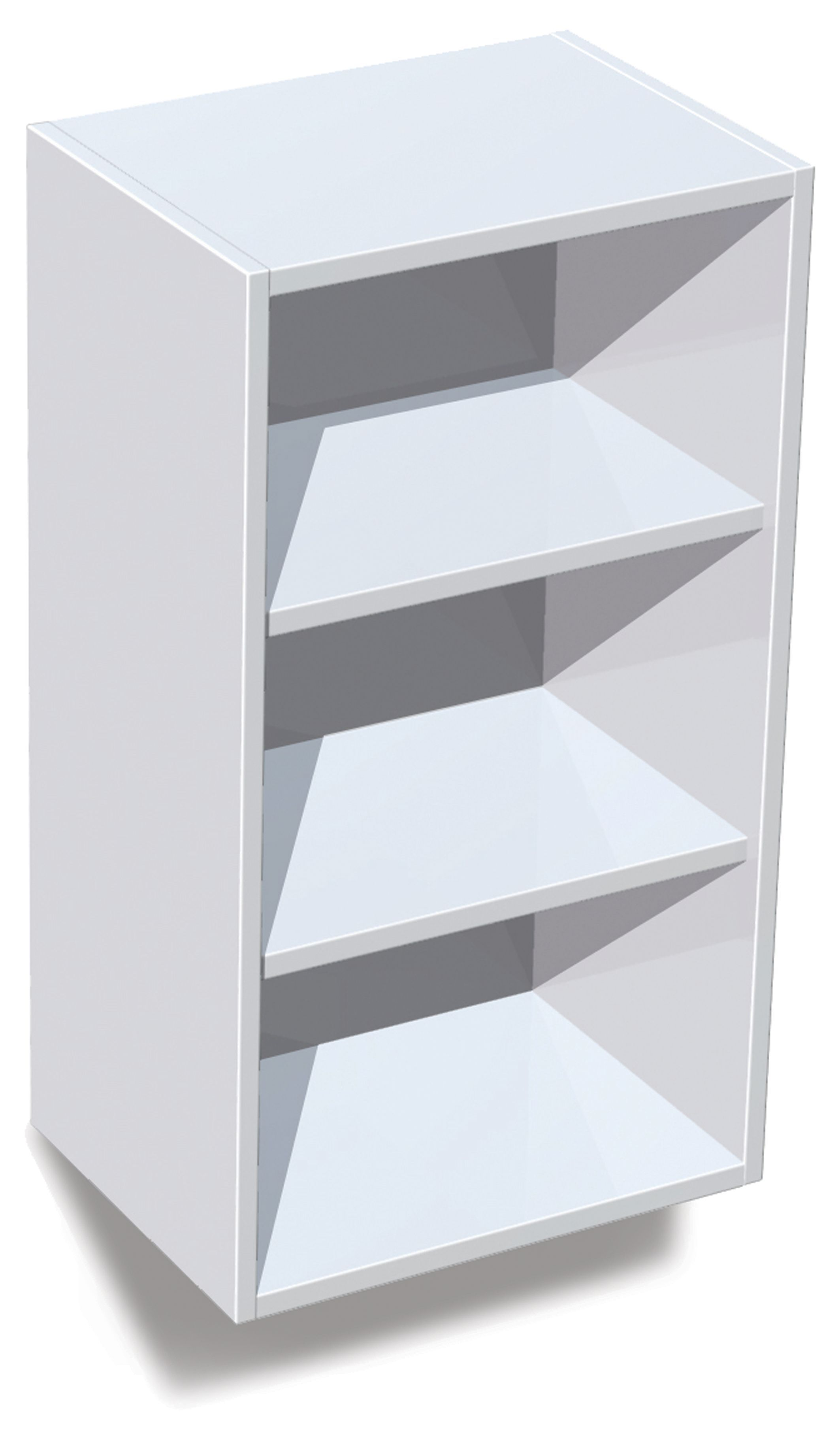 It kitchens white standard wall cabinet w 400mm for Kitchen wall units b q