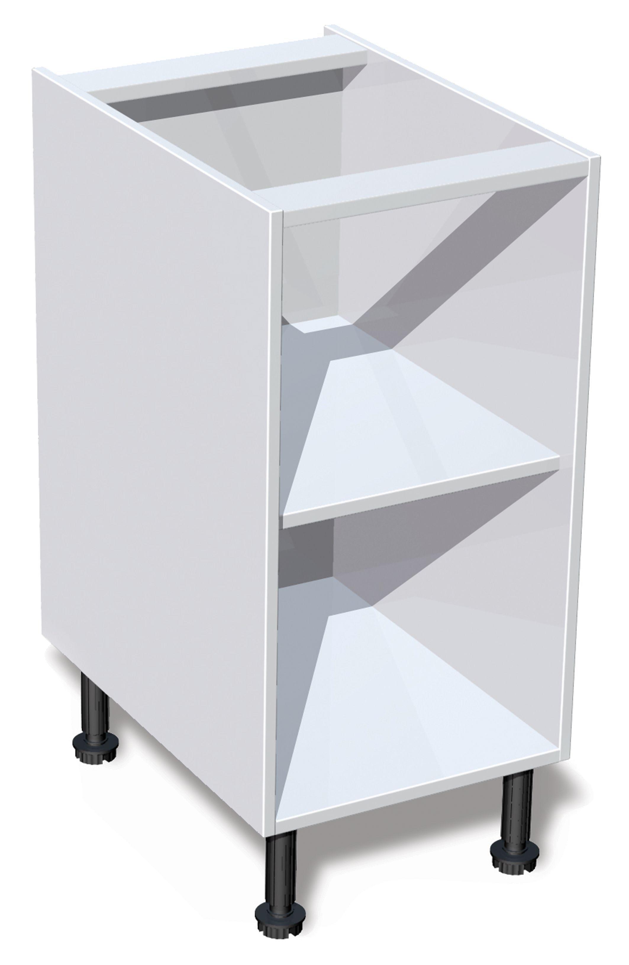 It kitchens white standard base cabinet w 400mm for White kitchen carcasses
