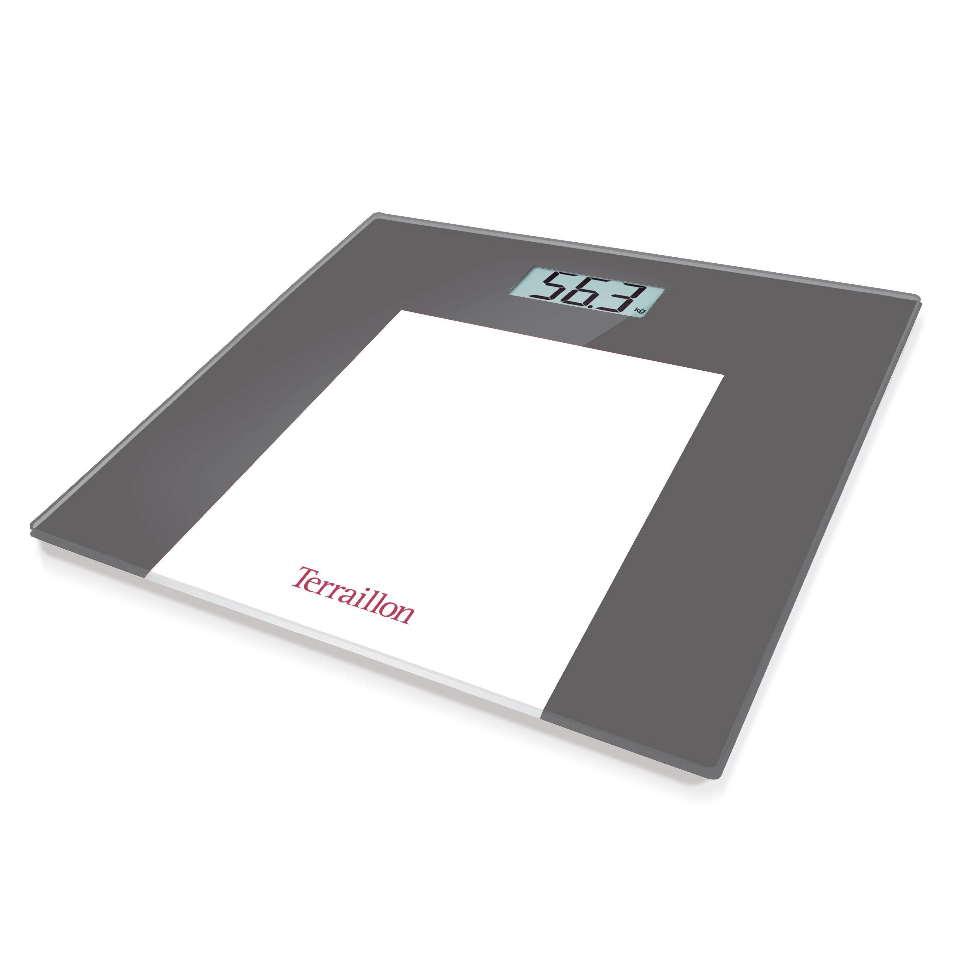B q bathroom scales - Terraillon Grey Slim Bathroom Scale