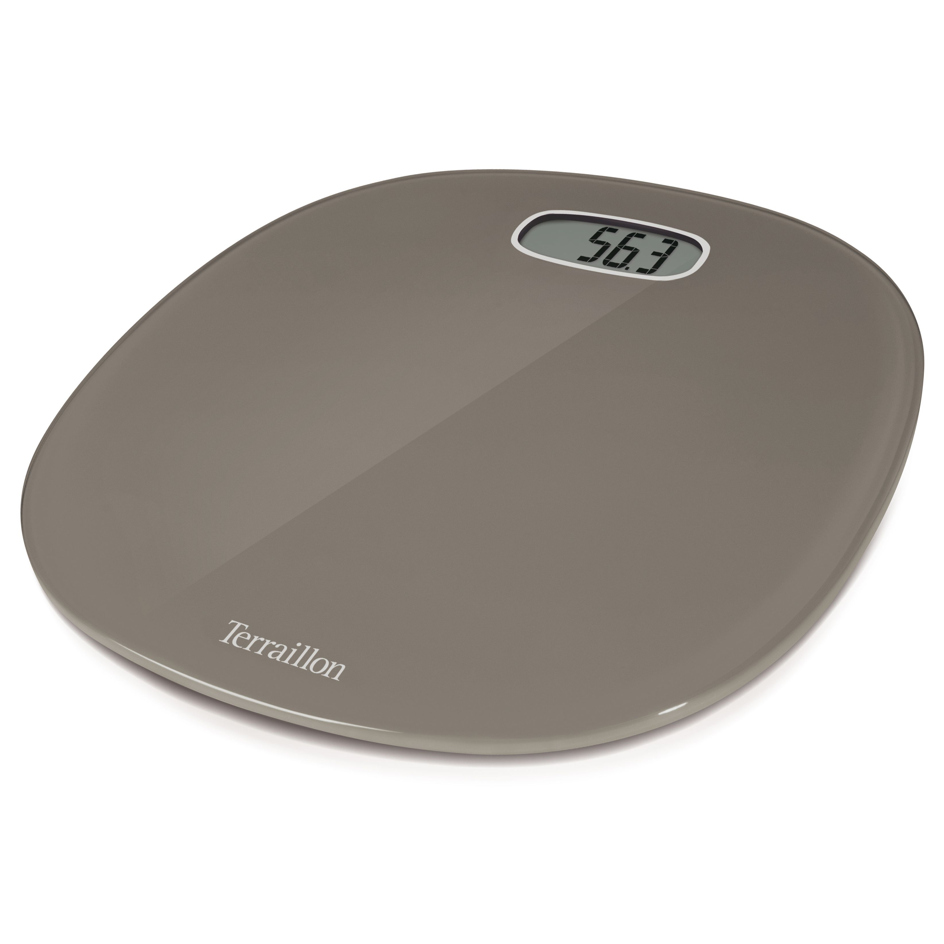 Terraillon Pop Taupe Slim & Curved Bathroom Scale