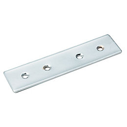 B&Q Chrome Effect Steel Door Fixing (L)100mm, Pack