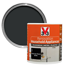 V33 Renovation Midnight Black Smooth Household Appliance Paint