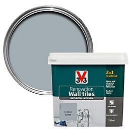 V33 Renovation Pebble Satin Wall Tile Paint 750ml