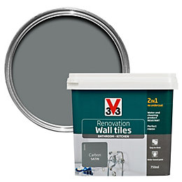 V33 Renovation Carbon Satin Wall Tile Paint0.75L
