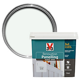V33 Renovation White Satin Panelling Paint 750ml