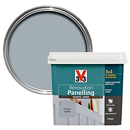 V33 Renovation Pebble Satin Paneling Paint 750ml