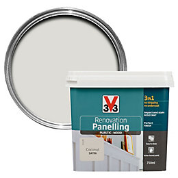 V33 Renovation Coconut Satin Paneling Paint 750ml