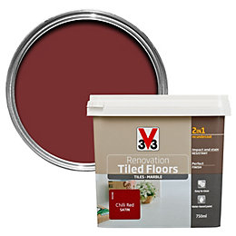 V33 Renovation Chilli Red Satin Floor Tile Paint