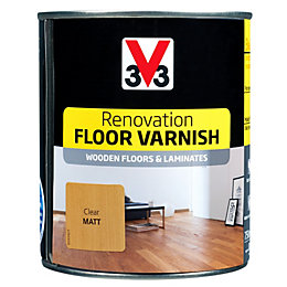 V33 Renovation Clear Matt Floor Varnish 750ml