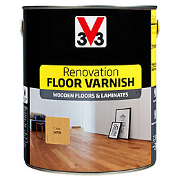 V33 Renovation Clear Satin Floor Varnish 2.5L
