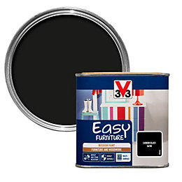 V33 Easy Carbon Black Satin Furniture Paint 500