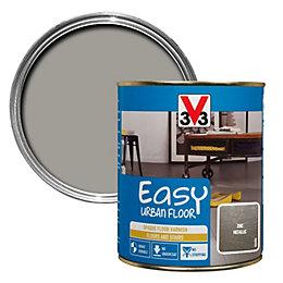 V33 Easy Zinc Metallic Floor Varnish 750ml