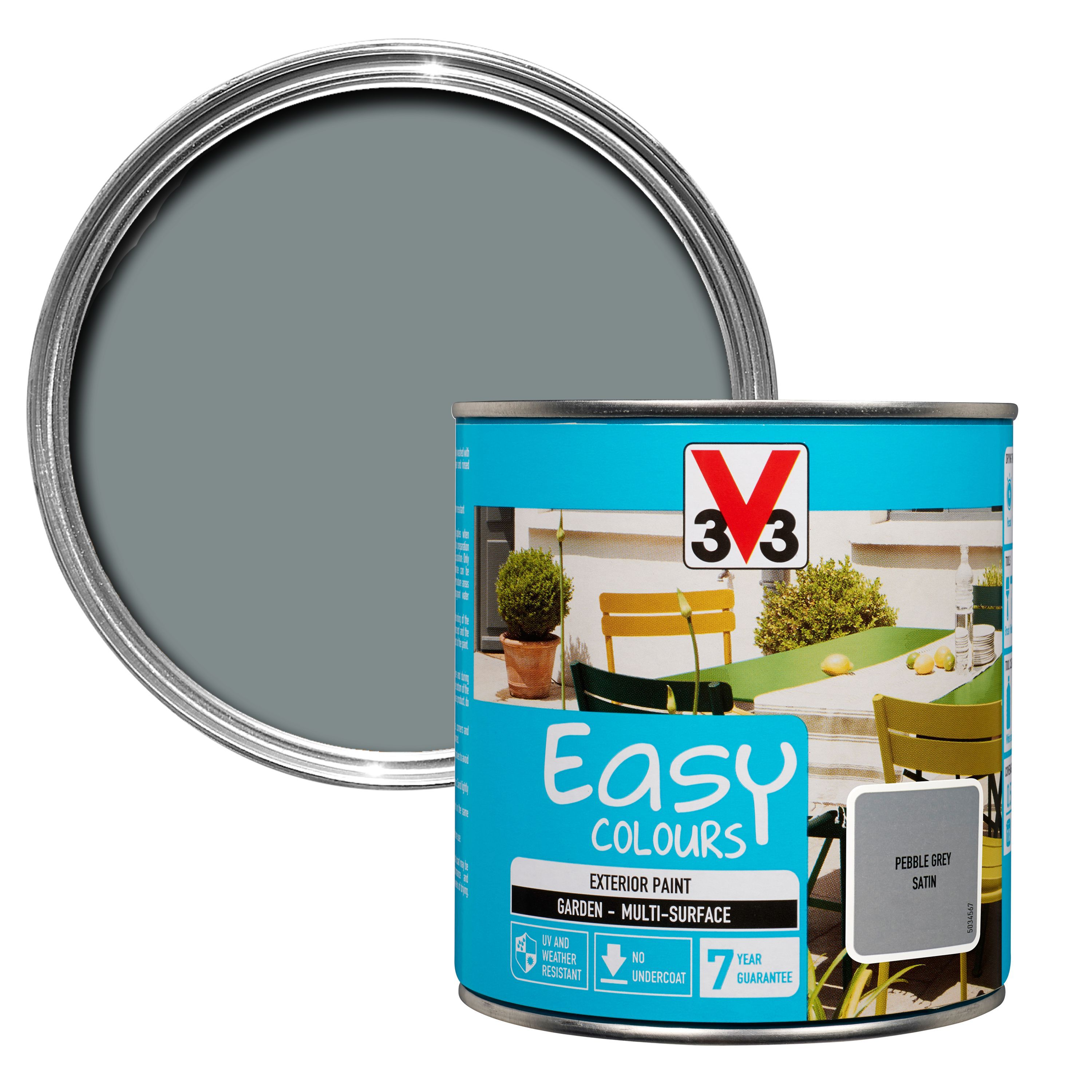 Ronseal One Coat Grey High Gloss Tile Paint 250ml