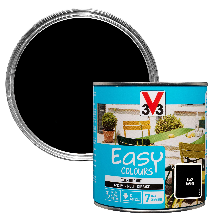 V33 Easy Black Powder Furniture Paint 500 Ml