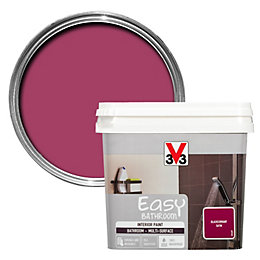 V33 Easy Blackcurrant Satin Bathroom Paint 750ml