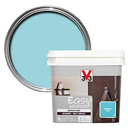 V33 Easy Summer Blue Satin Bathroom Paint 750ml