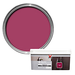 V33 Easy Blackcurrant Satin Bathroom Paint 2.0L