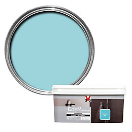 V33 Easy Summer Blue Satin Bathroom Paint 2.0L