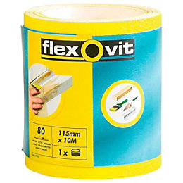 Flexovit 80 Grit Abrasive Roll (L)50m (W)115mm