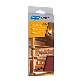 Norton 180 Extra Fine Sanding Block Refill, Pack