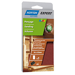 Norton 80 Medium Sanding Block Refill, Pack of