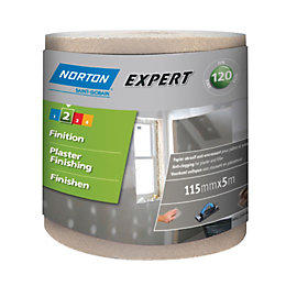 Norton Expert 120 Grit Sandpaper Roll (L)5m (W)115mm