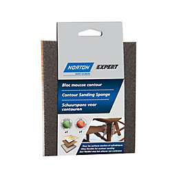 Norton Expert 100/60 Fine/Medium Contour Sanding Sponge, Pack
