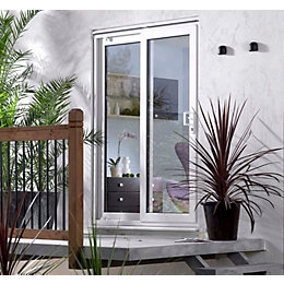 5ft White Glazed PVCu External Sliding Patio Door