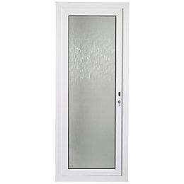 White PVCu Fully Glazed External Back Door &
