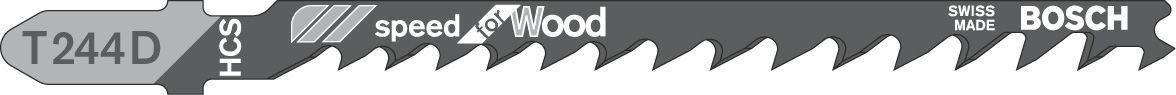 Bosch Bayonet Fitting Jigsaw Blade T244d 100mm, Pack Of 5