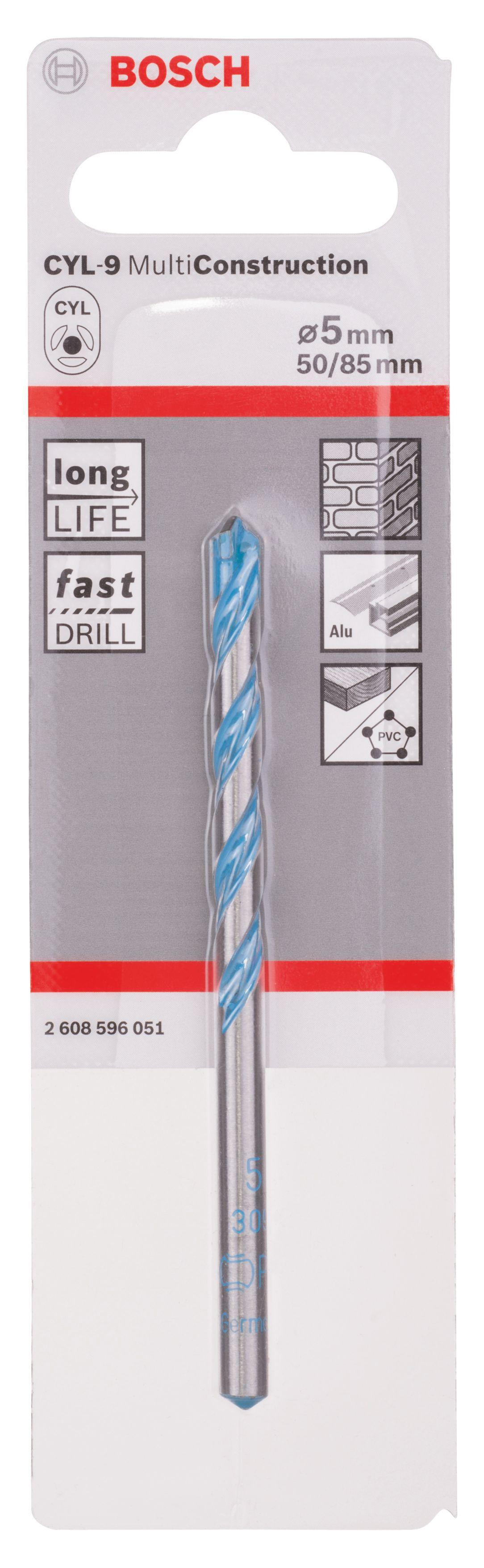 Bosch Multi-purpose Drill Bit (dia)5mm (l)85mm 8 Mm