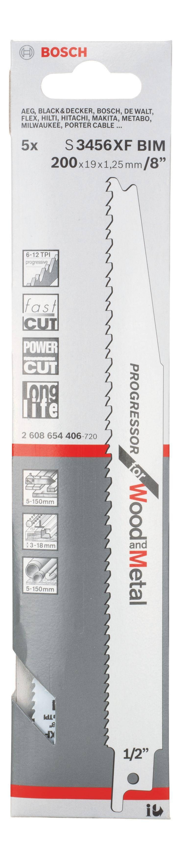 Bosch Sabre Saw Blade (l)200mm, Pack Of 5