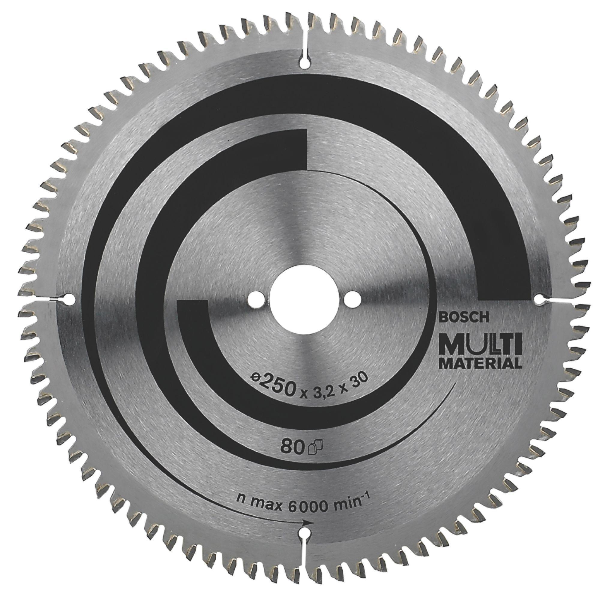 Bosch 80t Circular Saw Blade (dia)250mm