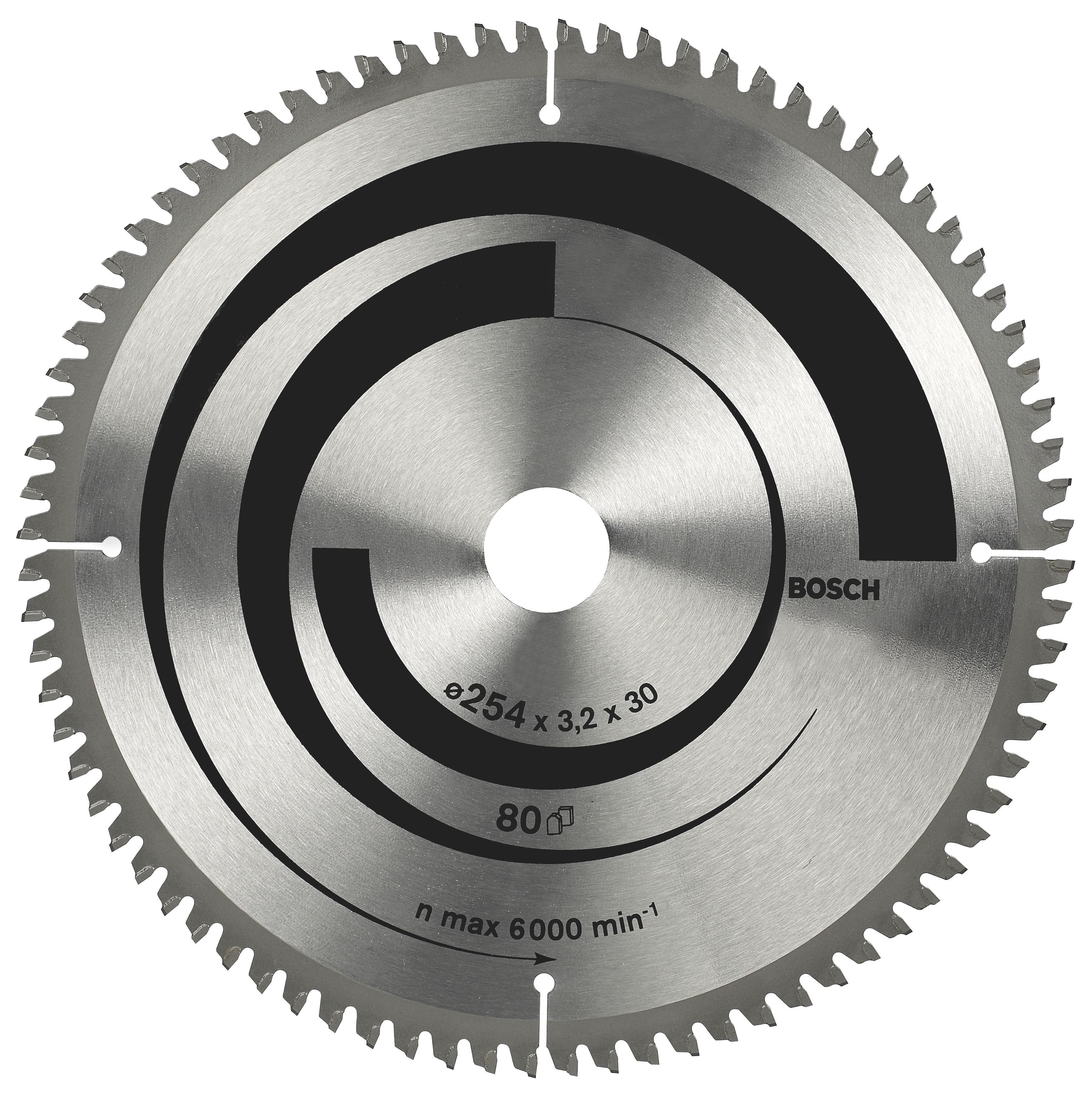 Bosch 80t Circular Saw Blade (dia)254mm