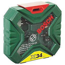 Bosch X-Line Mixed Drill Bit Accessory Set, 34