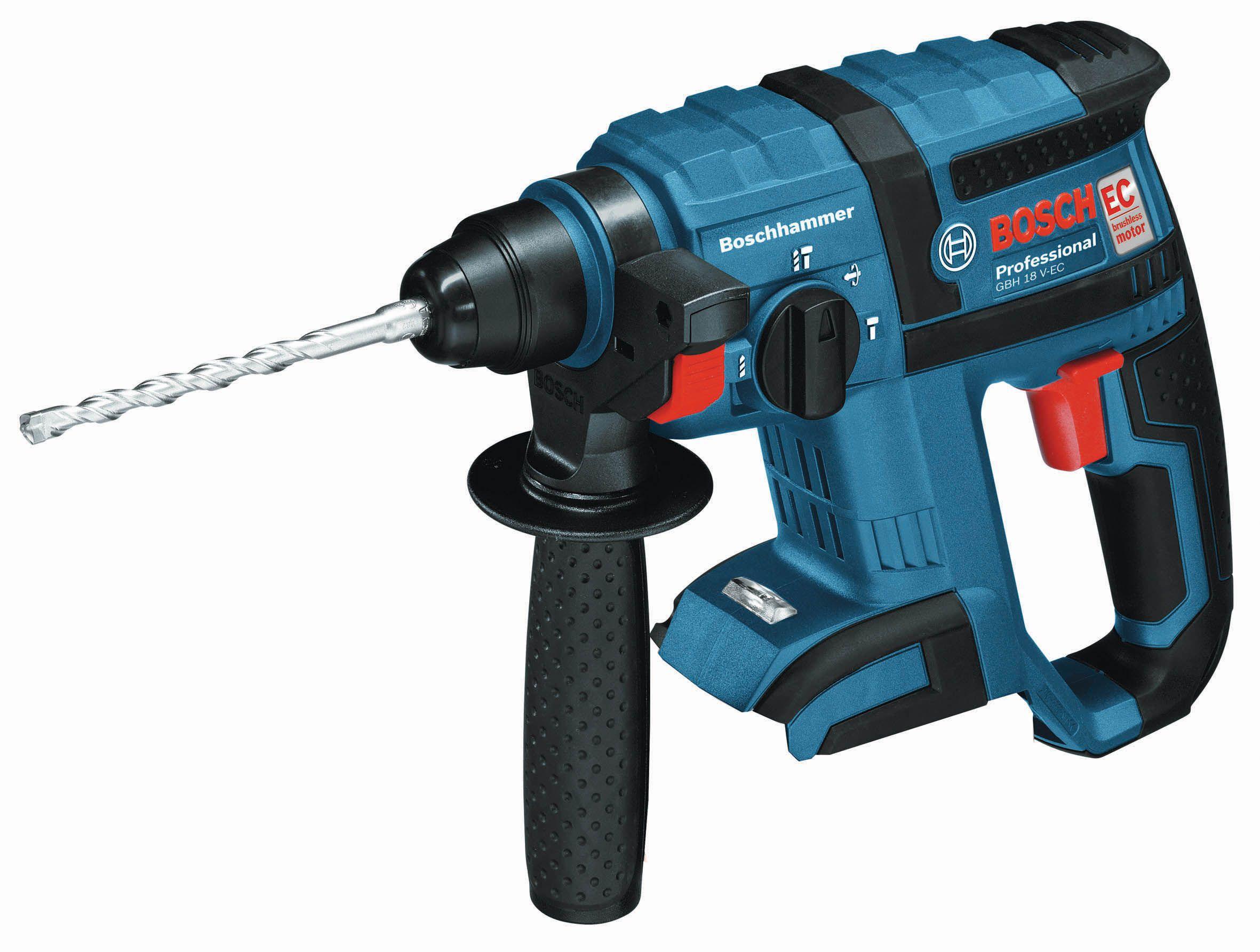 Bosch Professional Cordless 18v 4ah Li-ion Rotary Hammer Drill Gbh 18 V-ec - Bare