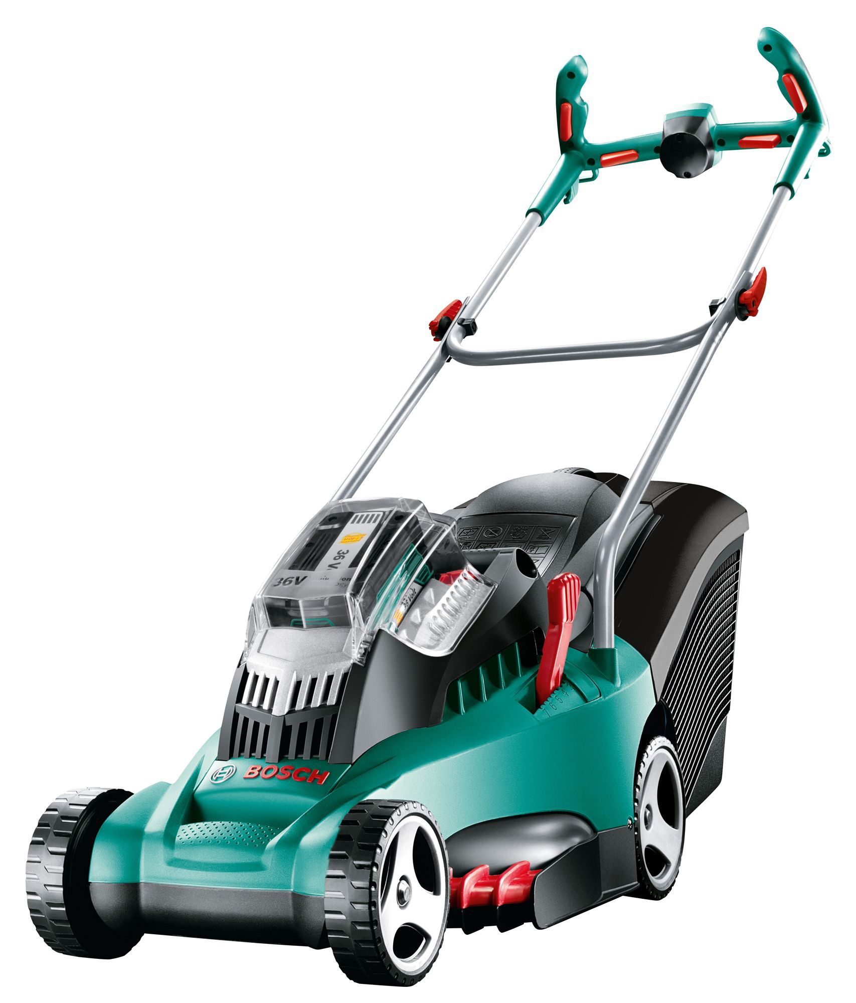 bosch rotak 370 li ultra cordless lithium ion rotary blade battery powered lawnmower. Black Bedroom Furniture Sets. Home Design Ideas