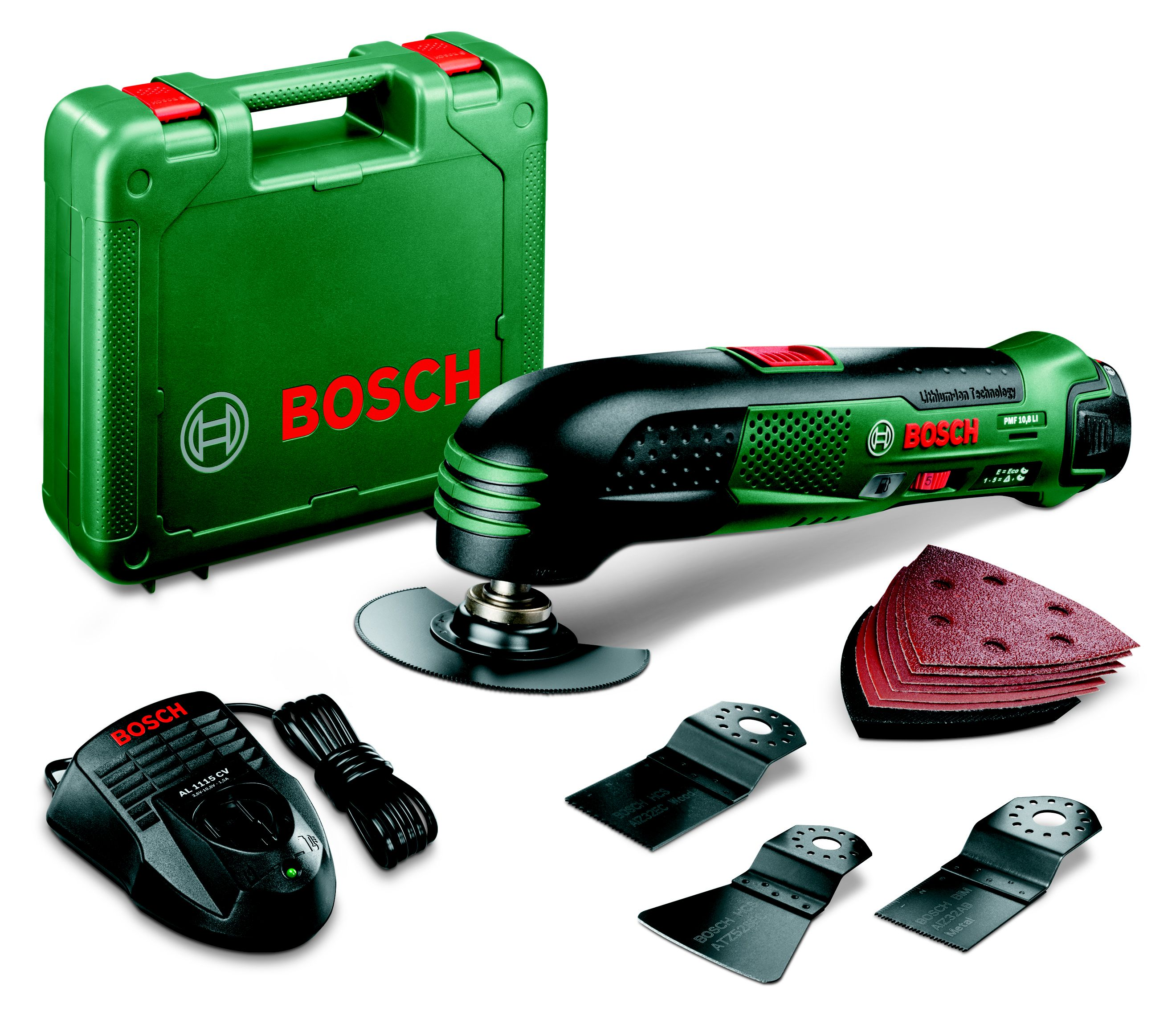 bosch cordless 10 8v multi tool set 1 battery pmf 10 8 li departments diy at b q. Black Bedroom Furniture Sets. Home Design Ideas