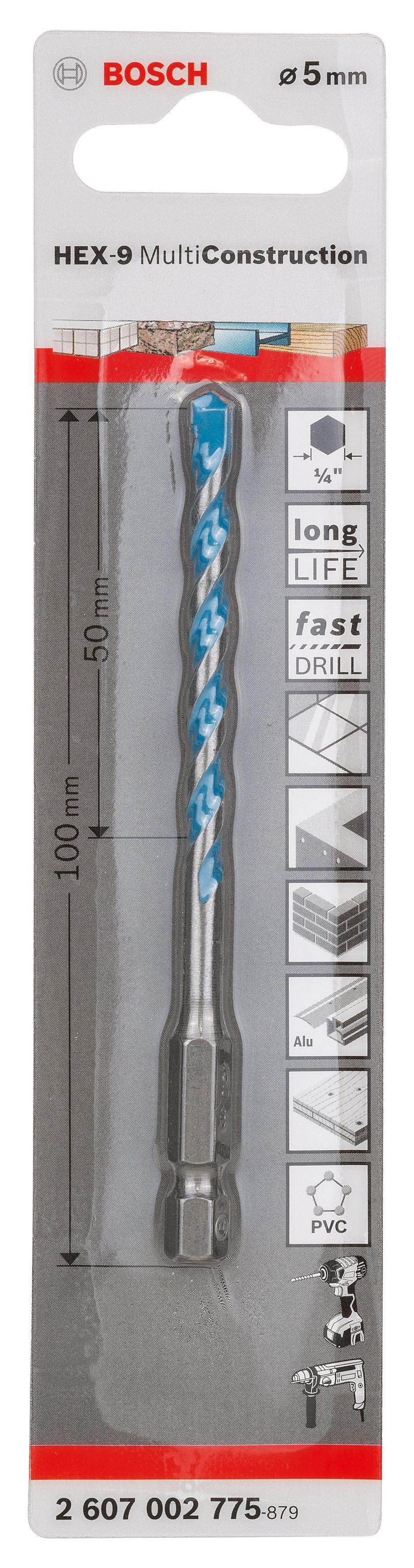 Bosch Drill Bit (dia)5mm