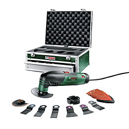 Bosch 240V Corded Multi-Tool with Tool Box PMF
