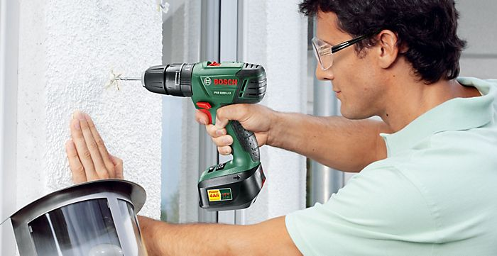 Man using a drill